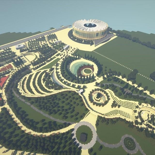 Подросток создал копию Краснодара в Minecraft (6 фото)