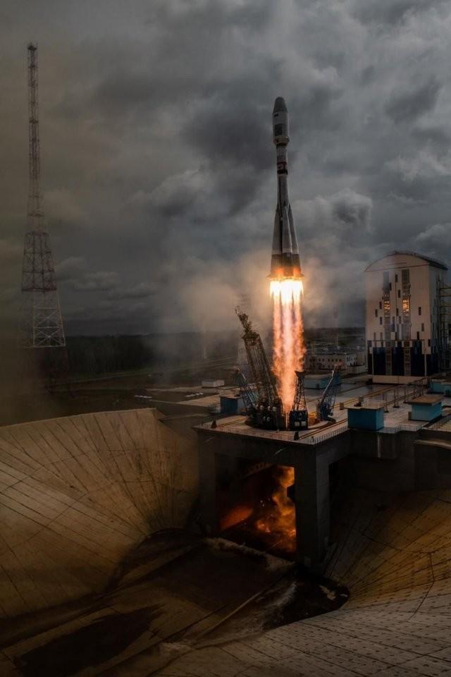 Космодром Восточный сегодня. Старт ракеты «Союз» (2 фото)