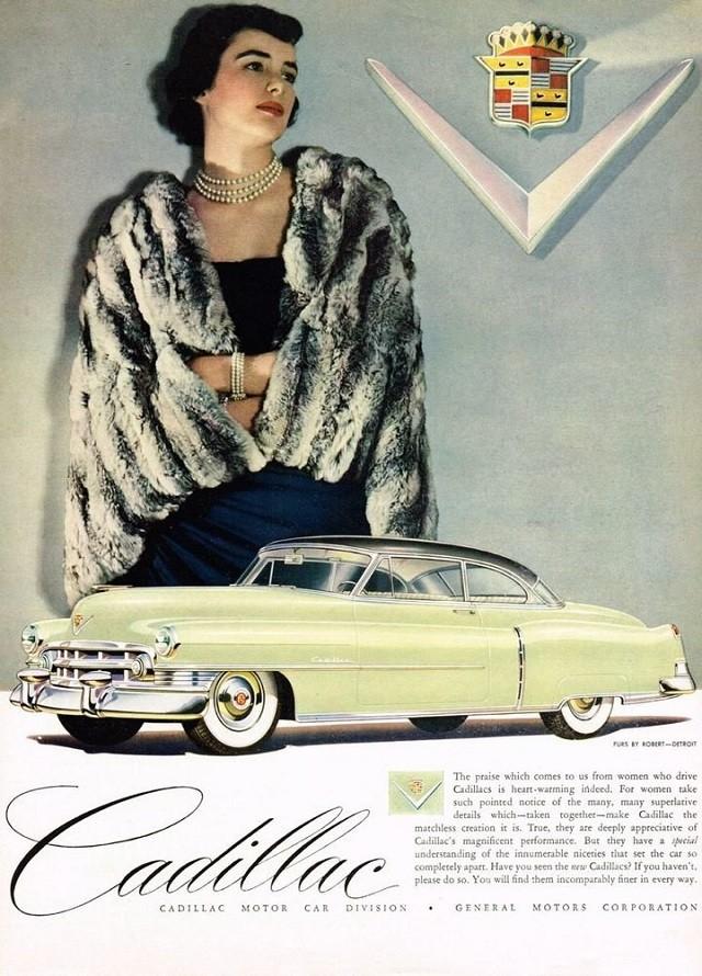 Шикарные женщины на постерах Cadillac начала 50-х годов (10 фото)