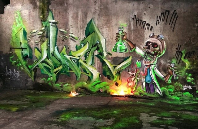 Удивительные граффити от французского мастера (20 фото)