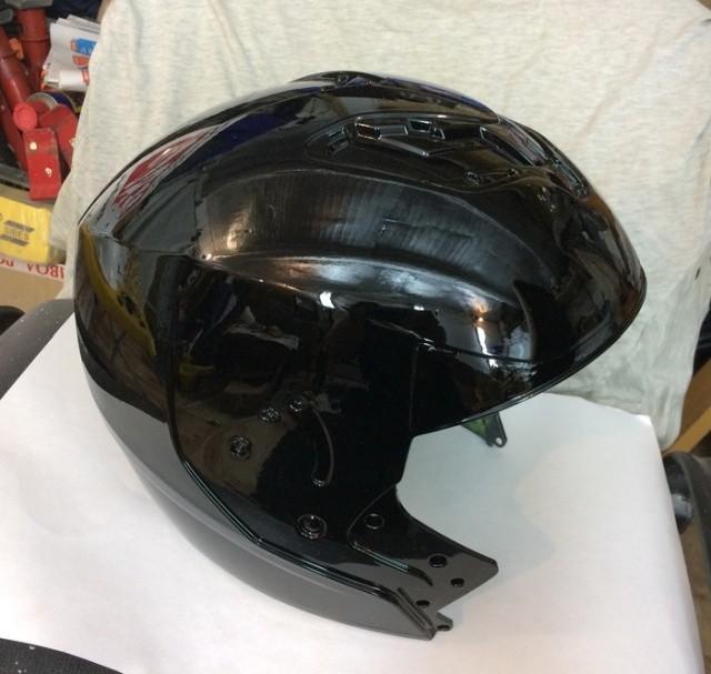 Мотоциклетный шлем до и после аэрографии (16 фото)