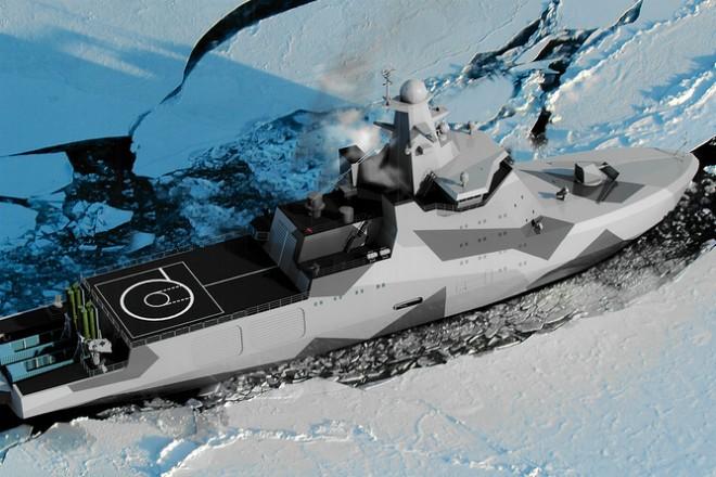 Корабль для операций в Арктике (3 фото)