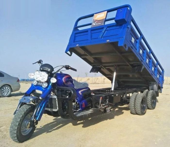 Китайская альтернатива грузовикам - мотоциклы-самосвалы (11 фото)