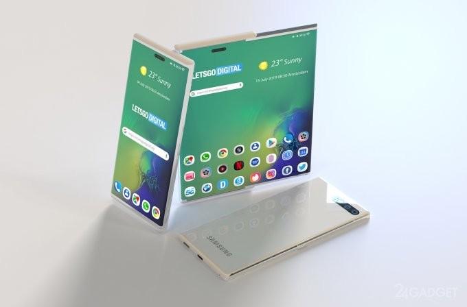 В Samsung готовят смартфон с расширяемым дисплеем (6 фото)