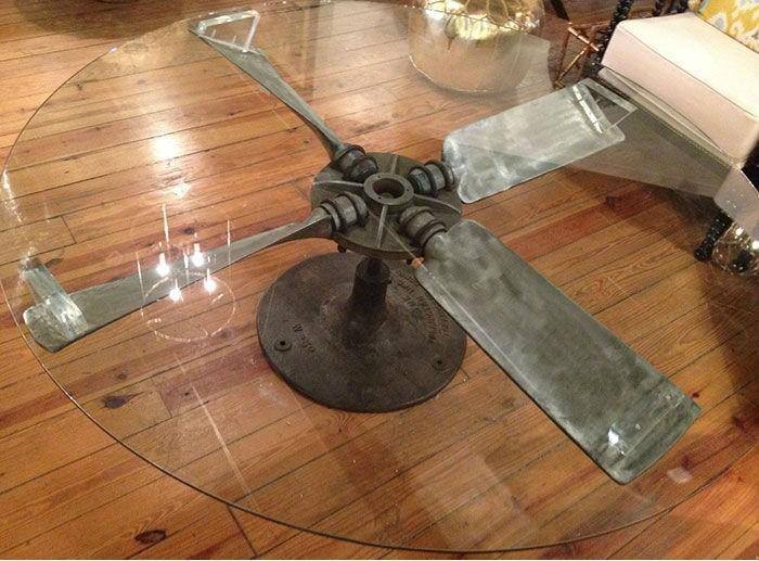 Креативная мебель из старых запчастей самолета (17 фото)