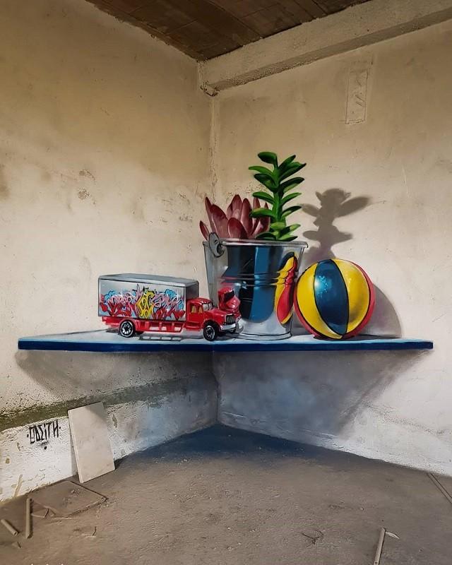 Невероятно реалистичные 3D-граффити от художника Португалии (22 фото)