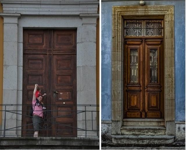 Для чего в старинных зданиях делали такие огромные двери? (2 фото)