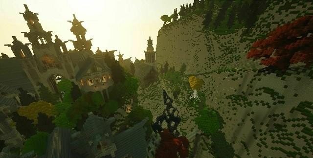 """Фанаты """"Властелина колец"""" строят Средиземье в Minecraft (7 фото)"""