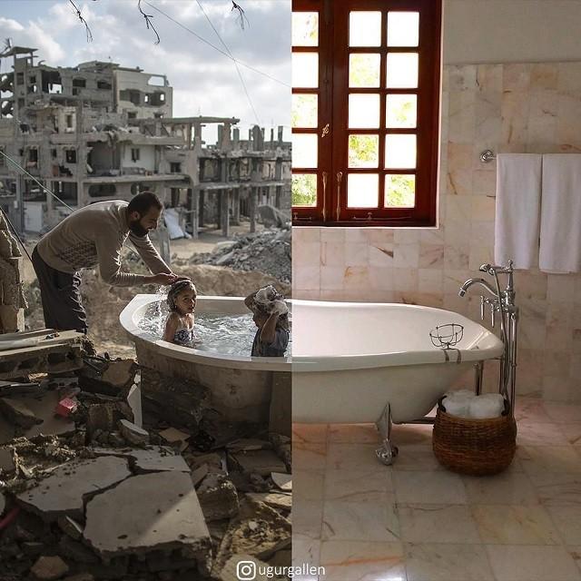 """Проект турецкого фотографа """"Мир дома - мир во всем мире"""" (18 фото)"""