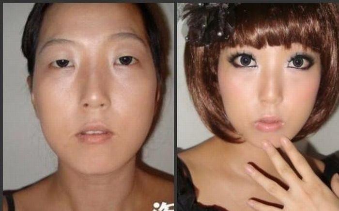 Азиатки до и после марафета (22 фото)