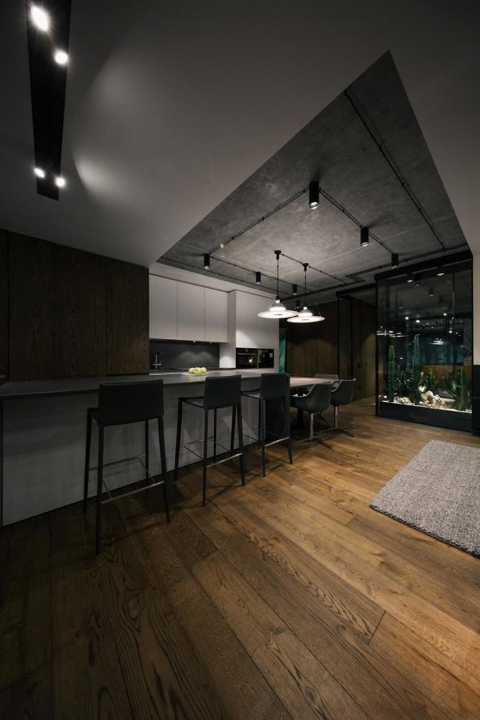Интерьер киевской квартиры в стиле лофт (14 фото)