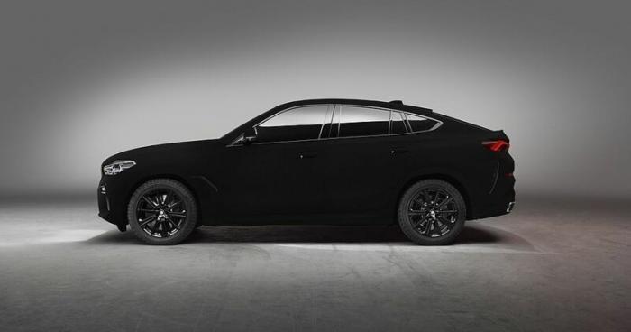 Чёрная дыра: BMW представляет новый внедорожник X6 Vantablack (8 фото)