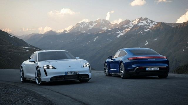 Porsche официально представила электромобили Taycan (7 фото)