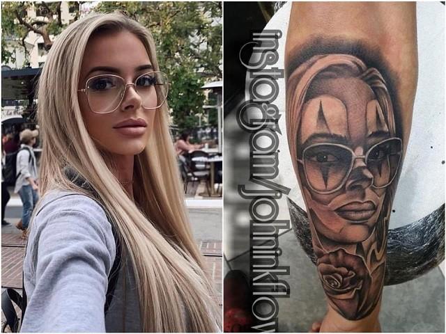 Портрет девушки стал эскизом для татуировок для людей (15 фото)