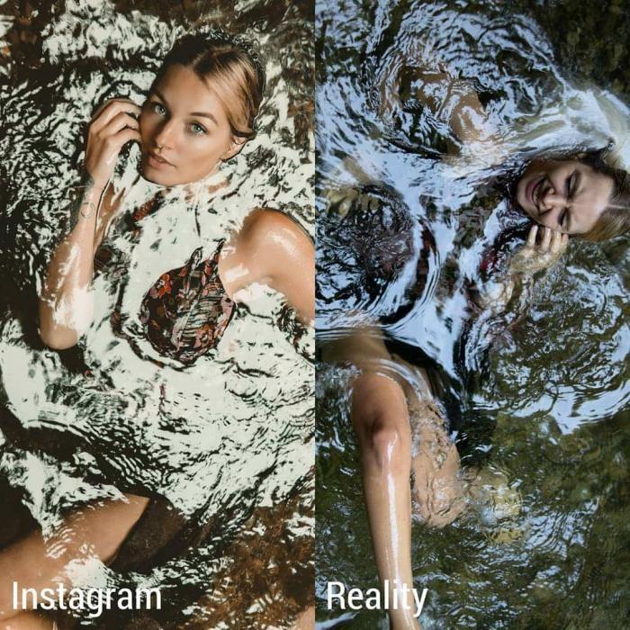 Девушка из Швейцарии сравнила обычную жизнь и в Инстаграме (16 фото)