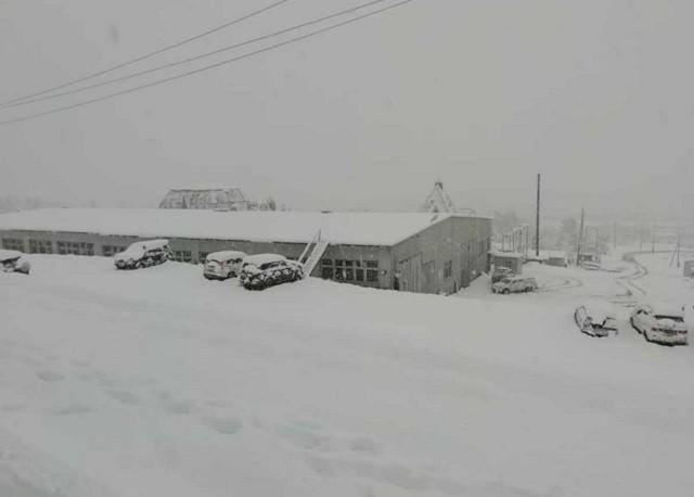 Мощный снегопад в Хабаровском крае (6 фото)