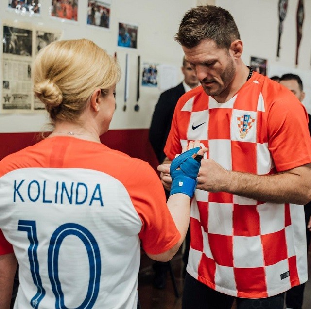 Чемпион UFC провел тренировку с президентом Хорватии (6 фото)