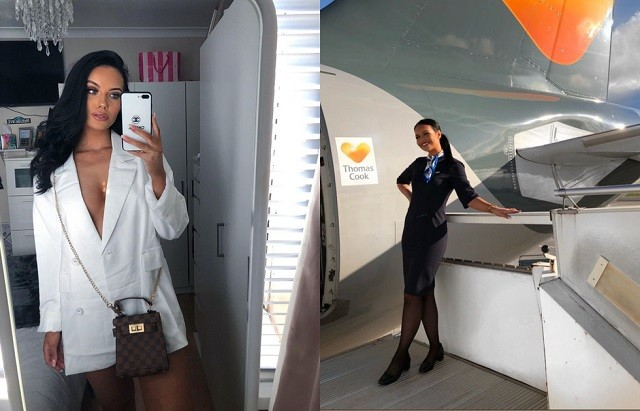 Хлоя Бэйн соблазнительная стюардесса-блогерша (20 фото)