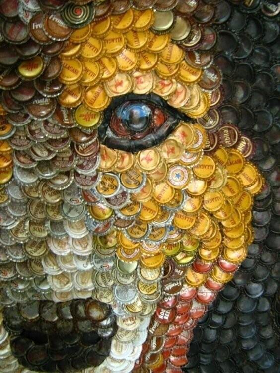 Идея: что делать с крышечками от пивных бутылок? (30 фото)