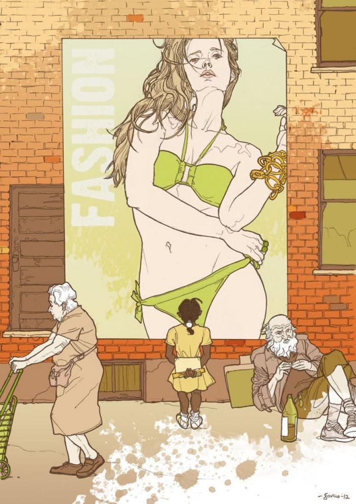 Подборка иллюстраций о проблемах современного общества (23 фото)