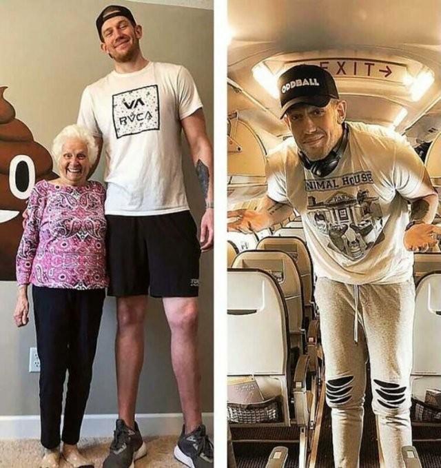 Одна из основных проблем высоких людей (2 фото)