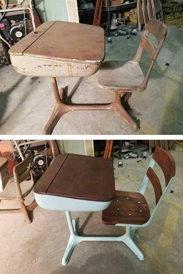 Старые вещи до и после реставрации (24 фото)