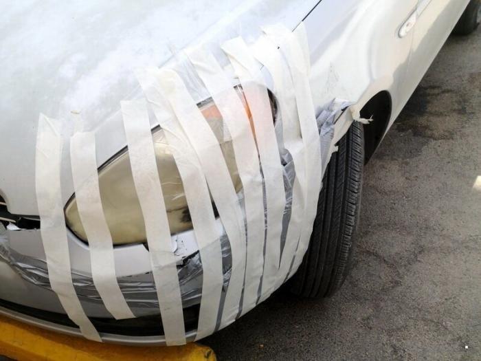 Не самый профессиональный ремонт машин (25 фото)