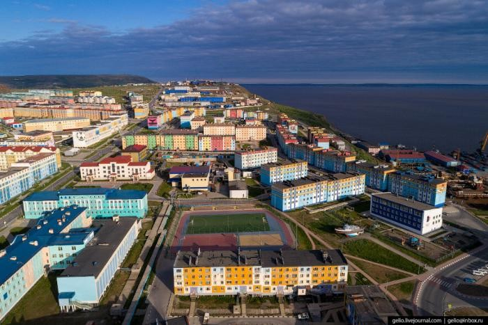Самый восточный город России с высоты (22 фото)