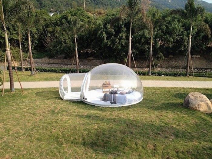 Палатка для максимального сближения с природой (7 фото)