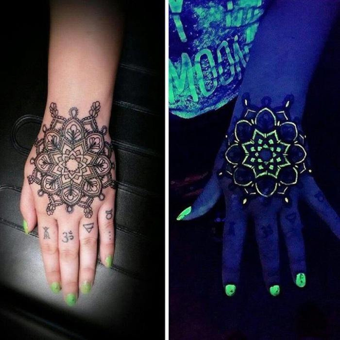 Татуировки, видимые только под УФ-светом (15 фото)