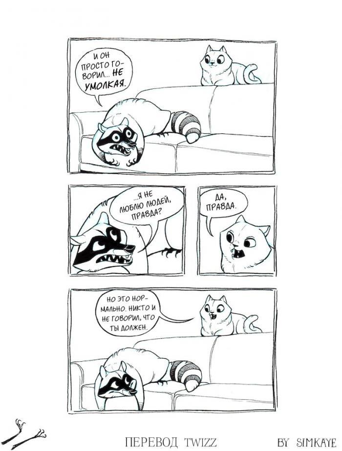 Крутые комиксы про енота, которые поймут все взрослые (16 фото)