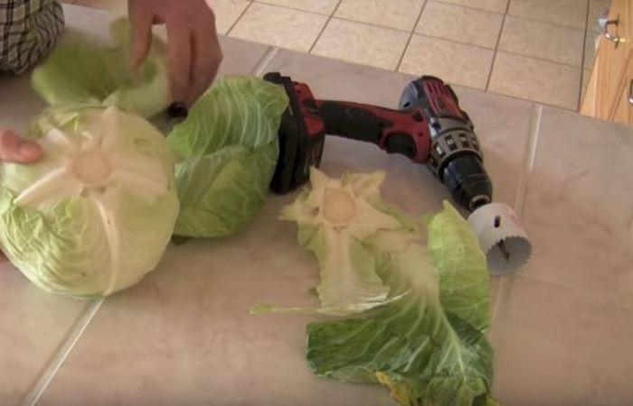 Способ приготовления голубцов с использованием шуруповерта (6 фото)