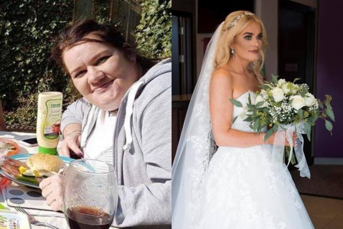 Невеста сбросила 50 кг ради свадебного платья мечты (6 фото)