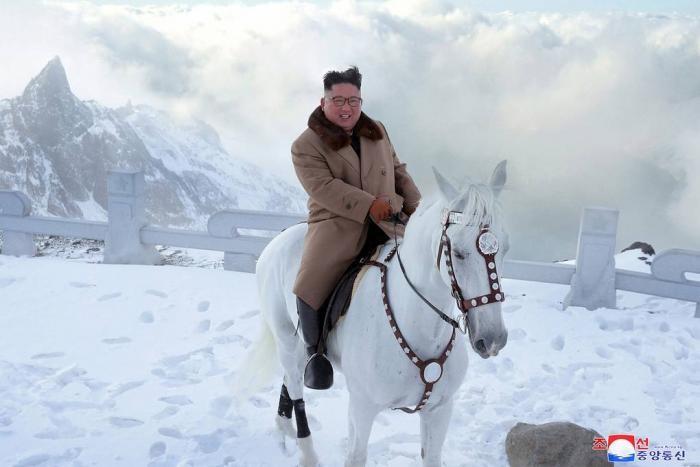 Ким Чен Ын прокатился на коне и стал героем фотожаб (23 фото)