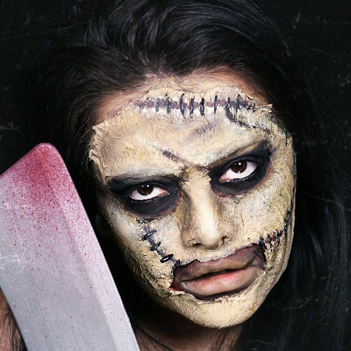 Девушка классно перевоплощается, отличные образы на Хэллоуин (24 фото)