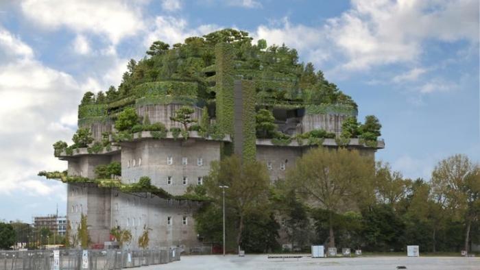 Из построенного нацистами бункера собираются сделать отель (4 фото)