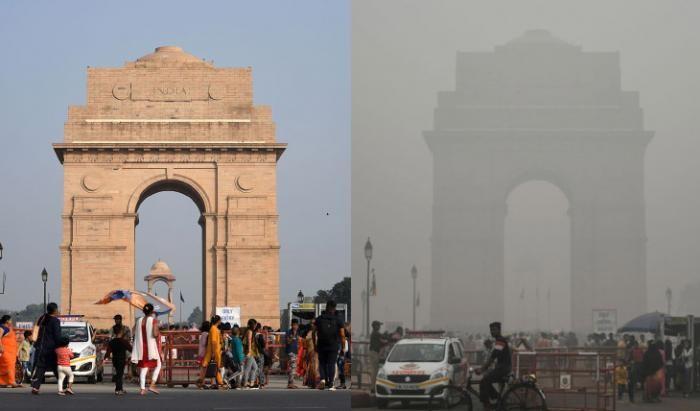 Великий смог в Нью-дели (17 фото)