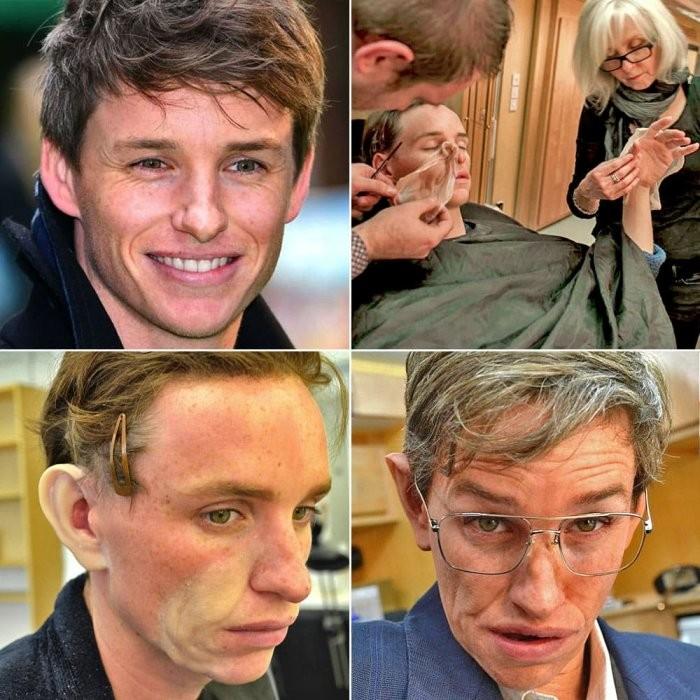 Фотографии, показывающие процесс перевоплощения актеров (24 фото)