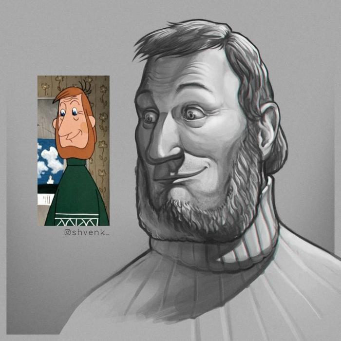 Герои советских мультфильмов в работах художника из Томска (6 фото)