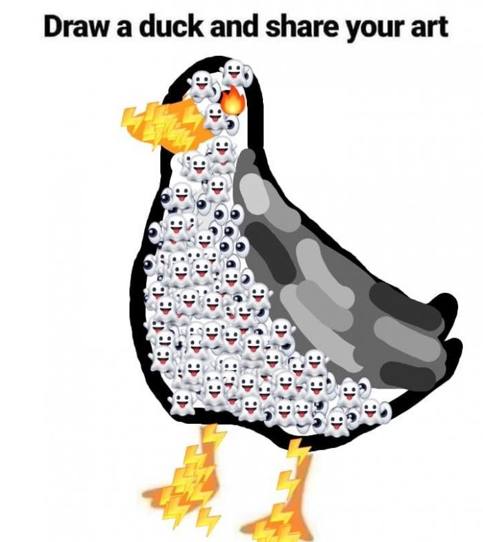 Обычным людям предложили завершить картинку утки (22 фото)