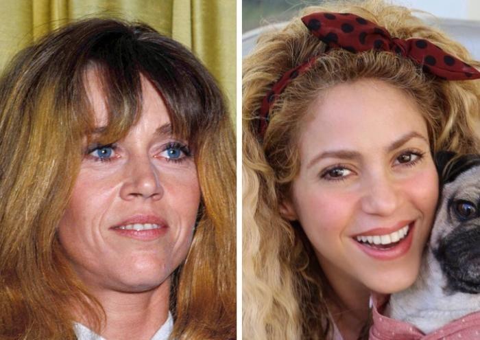 Как выглядели знаменитости старого и нового поколений (20 фото)