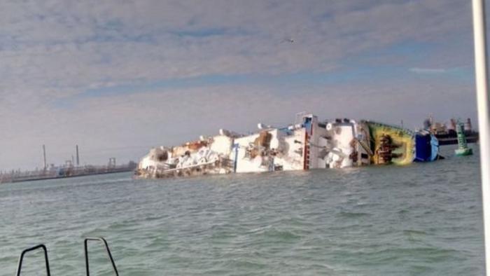 Перевернулось судно, перевозившее 14 тысяч овец (5 фото)
