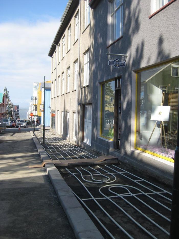 Как у них: в Исландии строят тротуары с подогревом (9 фото)