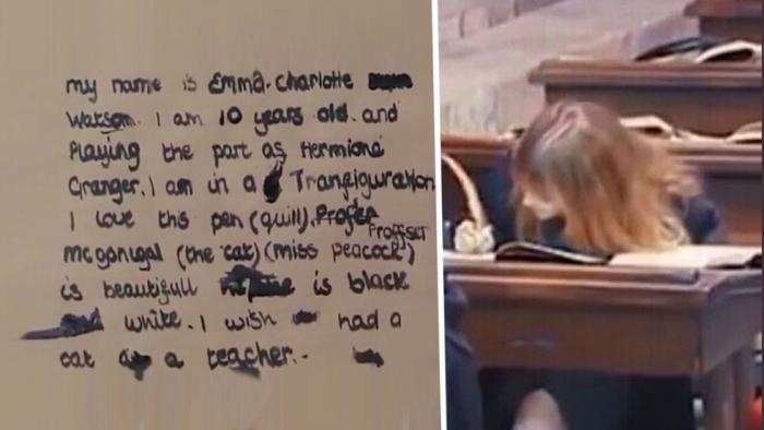 Что писала Гермиона на уроках магии? (2 фото)