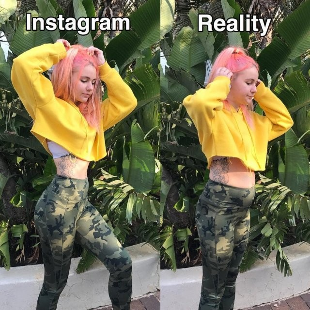 Instagram VS Реальность: Девушка худеет и полнеет на глазах (8 фото)