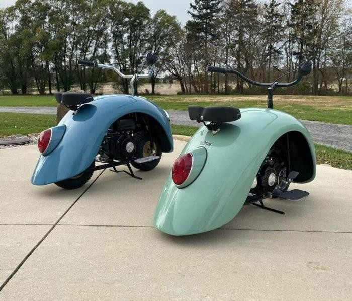 Изобретатель создал минискутер в стиле Volkswagen Beetle (12 фото)