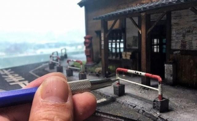 Художник из Тайваня создает миниатюрные миры (28 фото)
