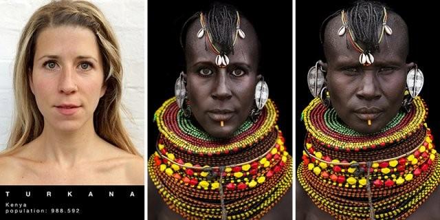 Путешественница перевоплотилась в женщин разных африканских племен (7 фото)