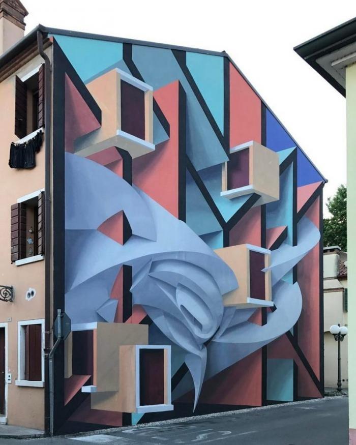 Удивительные 3D граффити от Мануэля де Рита (11 фото)