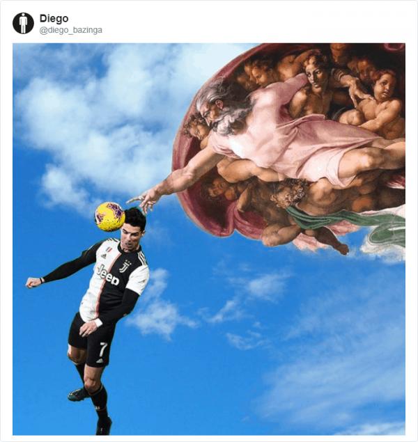 Гол головой от Криштиану Роналду разлетелся на фотожабы (21 фото)